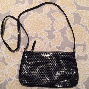 Kate Spade black patent leather shoulder bag